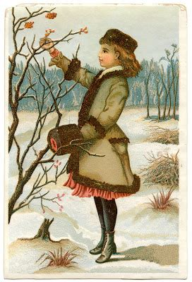 Antique Graphic - Winter Girl - The Graphics Fairy