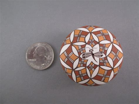 Tiny Acoma Pottery with Dragonfly Design - Diane Lewis