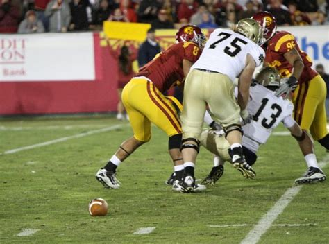 Tommy Rees fumbles
