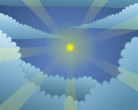 Drawing a sky vector illustration