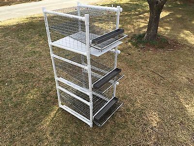 Stackable quail cage