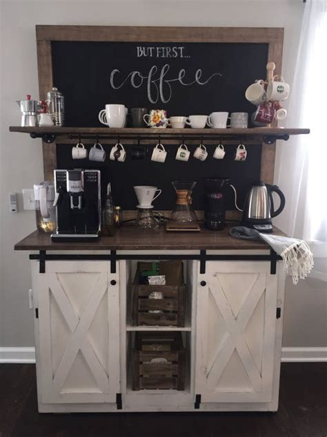 Coffee Bar Ideas for Kitchen   Lures And Lace