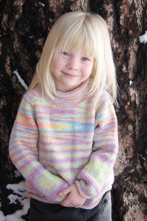 # 9730 Children's Neck Down Pullover | Knitting Pure And