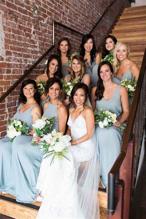 Show Me Your Mumu Bridesmaid Dresses in Silver Sage