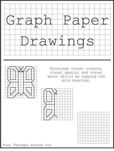 Graph Paper Drawings - Your Therapy Source | Graph paper