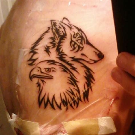 17 Best images about Wolf and Eagle tattoo ideas on
