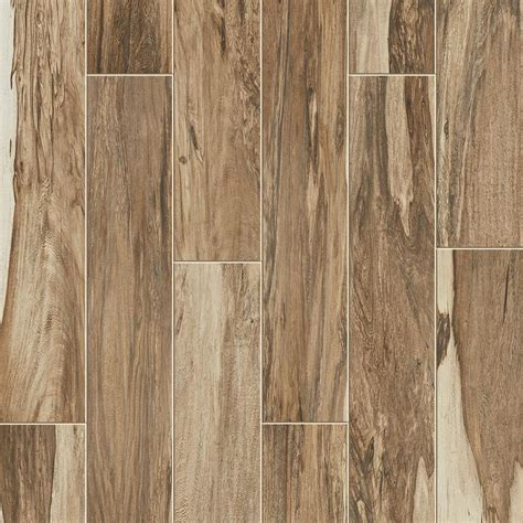 Style Selections Brazilian Pecan 8-Pack Natural 6-in x 36