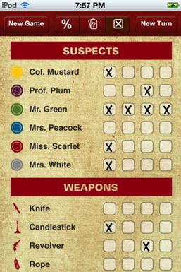 Clue Solver - for Clue or Cluedo board games for iOS
