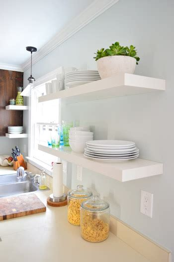 Hanging Ikea Floating Shelves In Our Kitchen   Young House