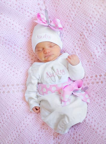 personalized baby girl coming home outfit, Take Home From