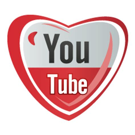 youtube icons, free icons in Heart Social Icons, (Icon