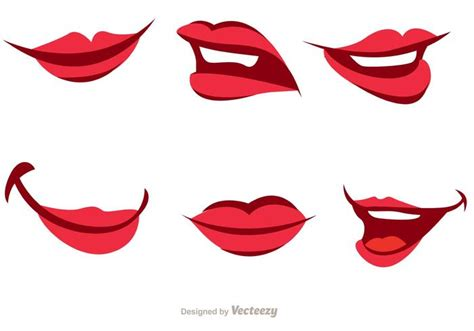 Girl Cartoon Mouth Vector Pack - Download Free Vector Art