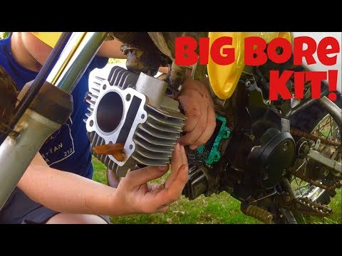 64mm Big Bore Cylinder Kit For GY6 4 Stroke 49cc 50cc