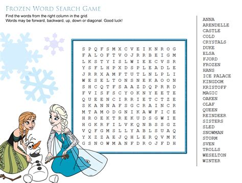 Disney Word Search - Best Coloring Pages For Kids
