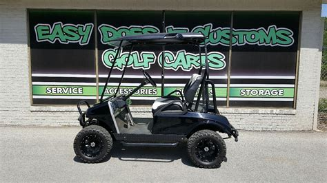 Club Car DS Golf Cart with New Black Body - Electric