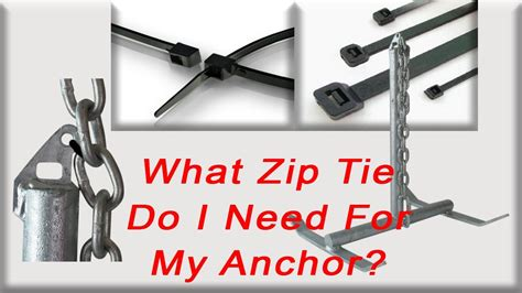 What zip tie do I need to for my boat anchor? - YouTube