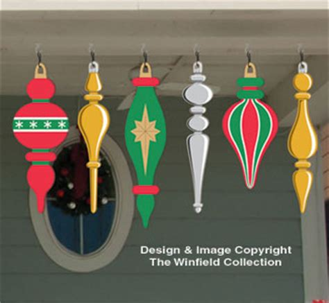 Holiday Signs - Large Ornaments #3 Woodcraft Pattern