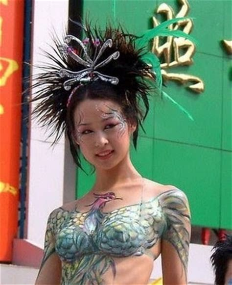 the best body paint 2011: chinese art body painting contest