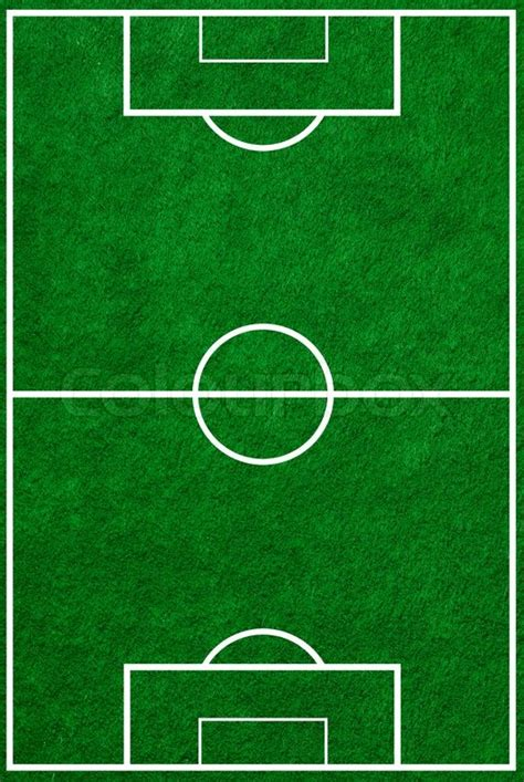 Football field top view with proper markings   Stock Photo