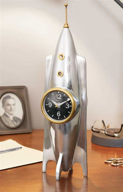 Vintage Rocket Ship Clock, All Gifts: Olive & Cocoa