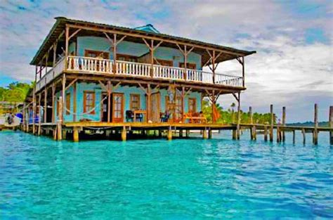 Unique Bocas Del Toro Rental sits directly on the water of