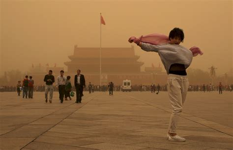 China Sandstorm: Beijing Blanketed In Red Dust As Biggest