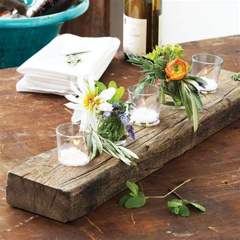 Recycled Wood Centerpiece Plank, All Gifts: Olive & Cocoa